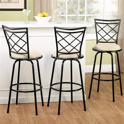 Kitchen Counter Chairs by 3 Adjustable Swivel Bar Stool Set Counter Height Kitchen