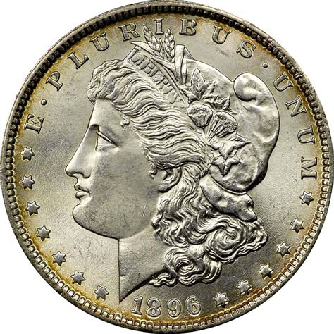 1 Dollar Silver Coin 1896 by 1896 1 Ms Dollars Ngc