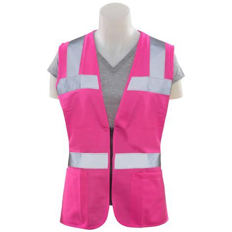 Pink Vest erb s721 non ansi s safety vest pink fullsource