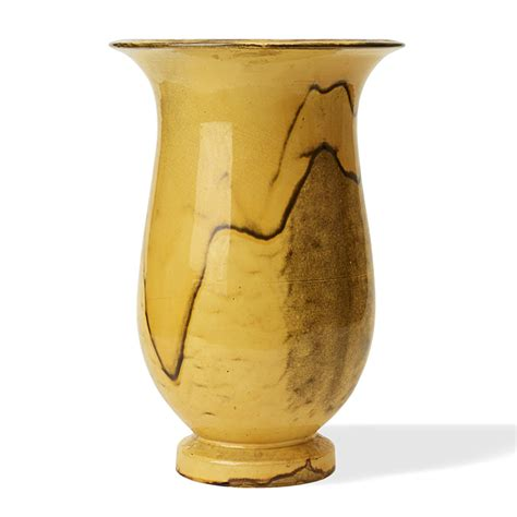 Yellow And Grey Vase Gallery Bac Monumental Vase With Yellow Gray Glaze By