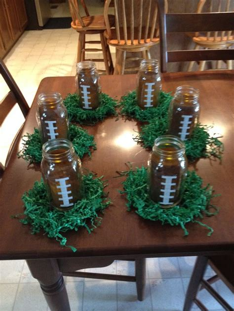 grad football centerpieces football team spirit