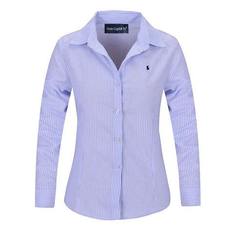 Jumbo Big Blouse Hewilsa Plain Longsleeve classical polo striped shirt 2016 fashion sleeve formal blouse large plus size