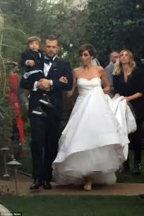 jamie lynn sigler wedding jamie lynn sigler wears strapless bridal dress after