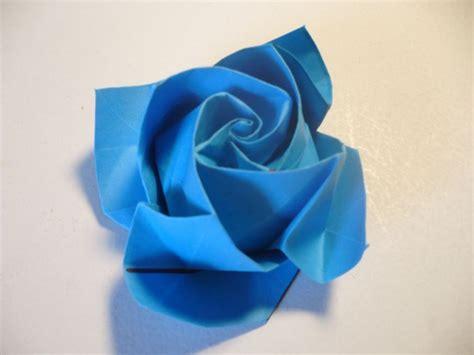 cara membuat origami bunga ros mudah cara membuat origami bunga mawar biru dengan mudah