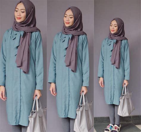 tutorial hijab pashmina katun cara memakai pashmina simple untuk kuliah tutorial