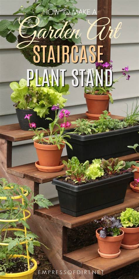 build  simple staircase plant stand vertical