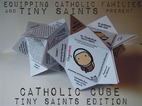 catholic crafts tiny saints catholic cube craft kit new equipping