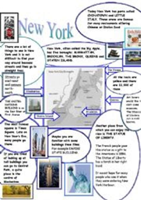 reading comprehension test new york english teaching worksheets new york city