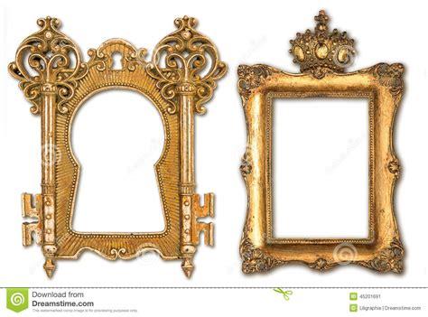 fotos retro molduras para retrato douradas do vintage isoladas no