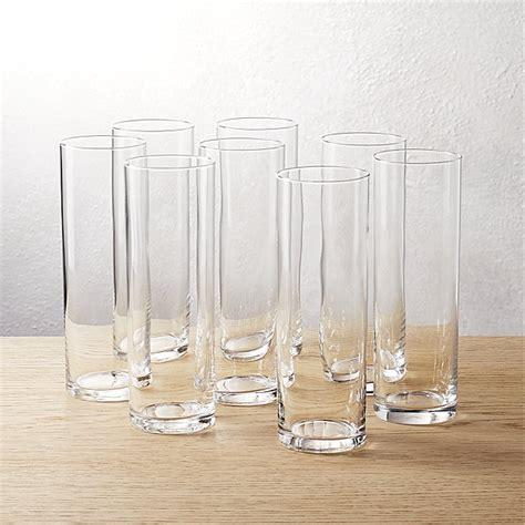 stemless chagne flutes set of 8 cylinder chagne flutes cb2