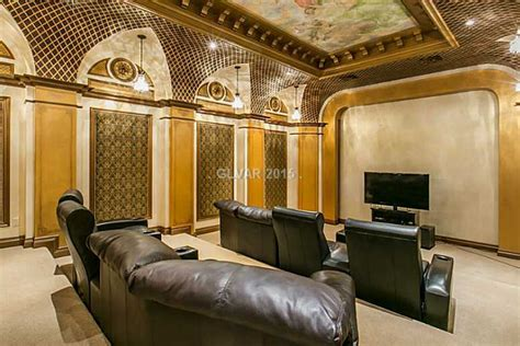 home theater tuscan style villa las vegas home theater
