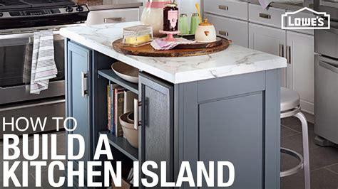 kitchen island build youtube