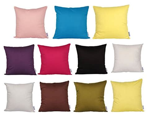 machine wash couch cushion covers comoco 174 2pcs solid color lightweight cotton decorative