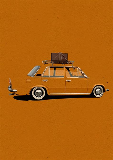 minimalist design  illustrations  jake gunn illustration styles car drawings