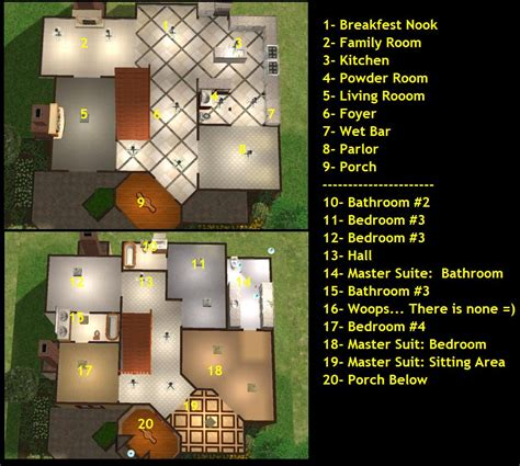 sims floor plans mod the sims large but small sims 2 mansion 4 bd 4 5