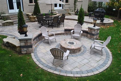 firepit landscaping pit whitby on photo gallery landscaping network