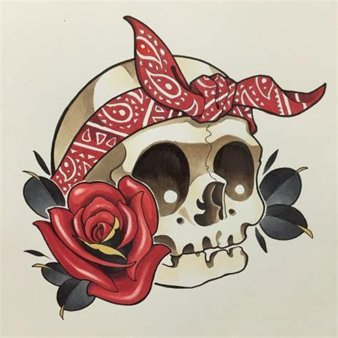 new school skull tattoo design new school design