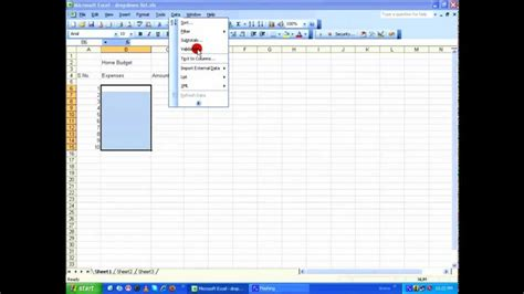 excel tutorial in youtube ms excel tutorial how to create drop down list hd youtube