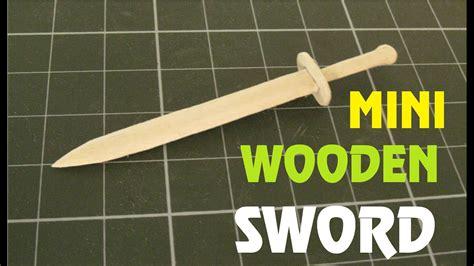mini wooden sword   popsicle stick