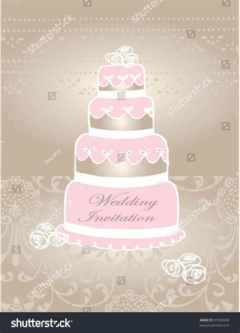 doodle wedding stationery vector doodle wedding cake wedding invitations stock