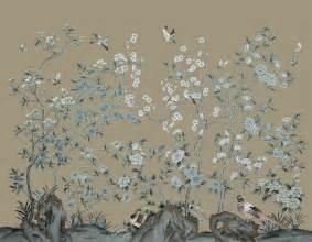 Large Oriental Floor Vases Handpainted Silk Wallpaper Asian Wallpaper Other