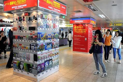 Home Plus by Smartphone Subway Shopping Tested In Seoul Korea Real