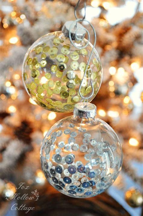 sequin ornaments ideas  pinterest homemade