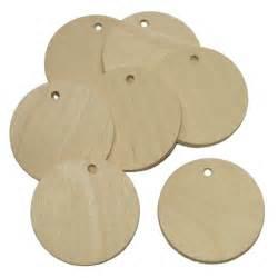 10x porte noms marque places en bois naturel rond 216 5cm