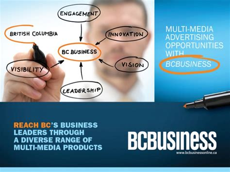 Advertising Opportunities by Bcbusiness Advertising Opportunities Media Kit