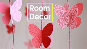 Home Decor Paper Crafts room decor make paper butterflies easy paper crafts youtube