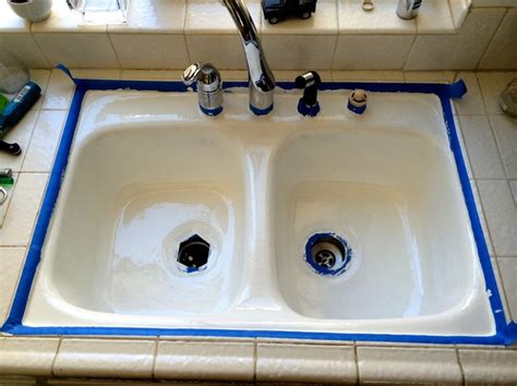 epoxy paint for bathroom sink how to resurface a sink snapguide
