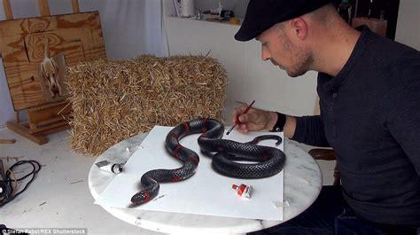 Kaos 3d Snake Uk L artist stefan pabst 3d paintings will leave