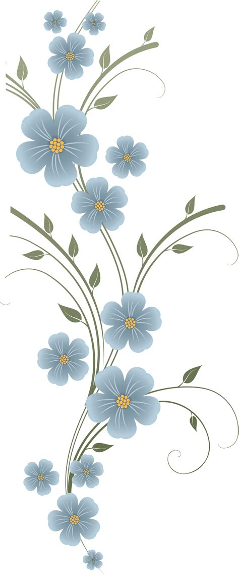 Livingroom Pc render fleur fleurs bleu tige plante feuille feuilles vert