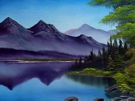 bob ross painting water reflections reflections of calm the of painting s31e1
