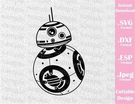 format file bb bb8 star wars inspired cutting file in svg esp dxf and
