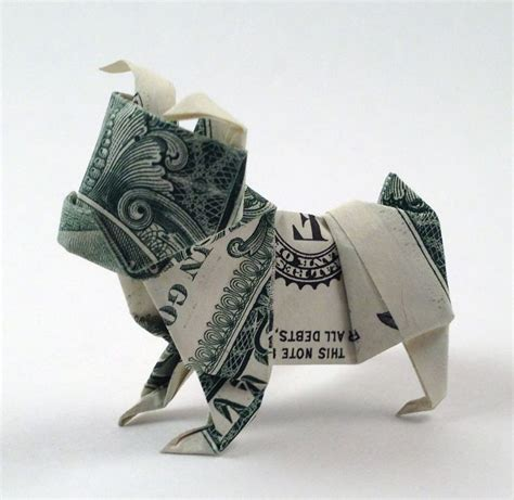 Money Origami Tutorial - diagrams dollar bulldog origamiusa origami