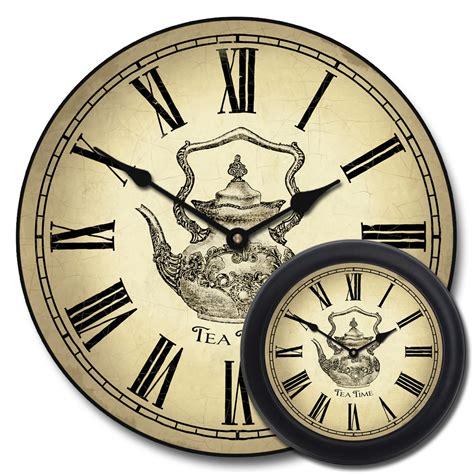 tea kettle wall clock vintage teapot clock tbcs