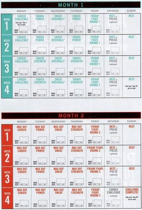 Insanity Calendar Printable Pdf Insanity Max 30 Calendar And Schedule Pdf With Tips
