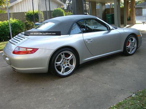 silver porsche convertible 2007 porsche 911 carrera 4s convertible 2 door 3 8l