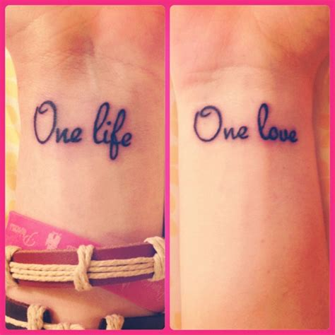 one love one life tattoo tattoos on wrist
