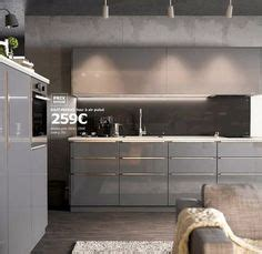 Credence Ikea 270 by Faktum Kitchen With Abstrakt Grey High Gloss Doors Drawers