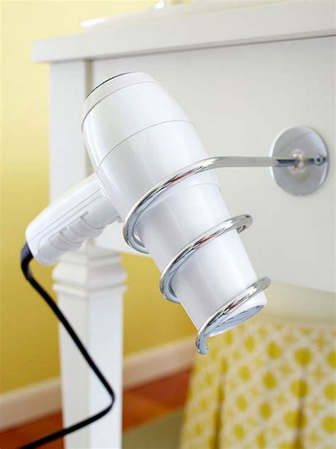 creative hair dryer and curling iron storage ideas hative