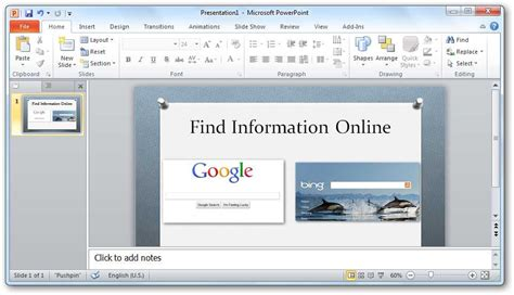 new design powerpoint 2010 how to add live web pages to a powerpoint presentation