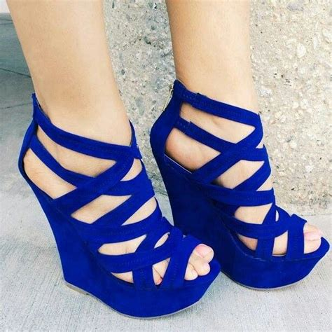 royal blue wedges shoe lover