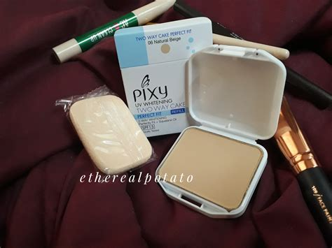 Pixy Uv Two Way Cake review pixy uv whitening two way cake fit