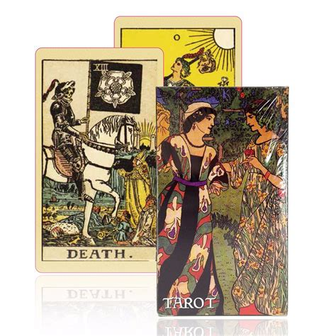 printable tarot cards esl english version smith waite tarot deck old fashioned color