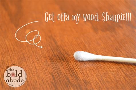 How To Get Sharpie Wood Table how to remove sharpie from wood surfaces