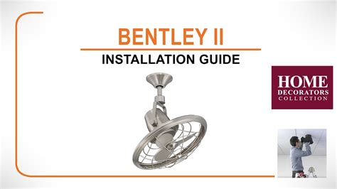 bentley ii ceiling fan bentley ii ceiling fan installation guide
