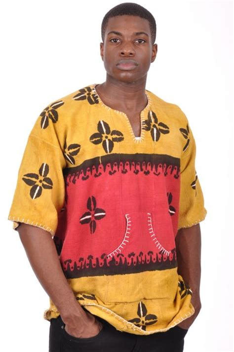 african clothing dress red and gold mud cloth red and golden yellow mud cloth dashiki shirt dpjd415hz