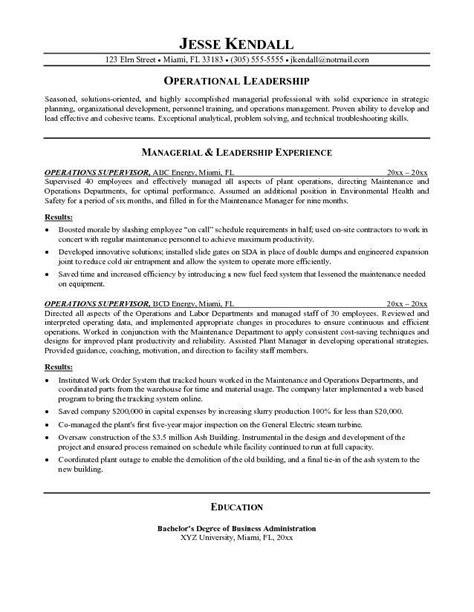 resume objective exles warehouse supervisor resume